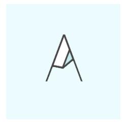 Logo initiale bleu