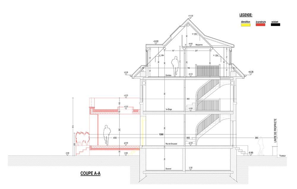 Projet en plan de l'Atelier Compostelle