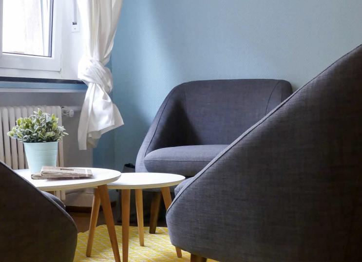 Salon Bleu et fauteuils