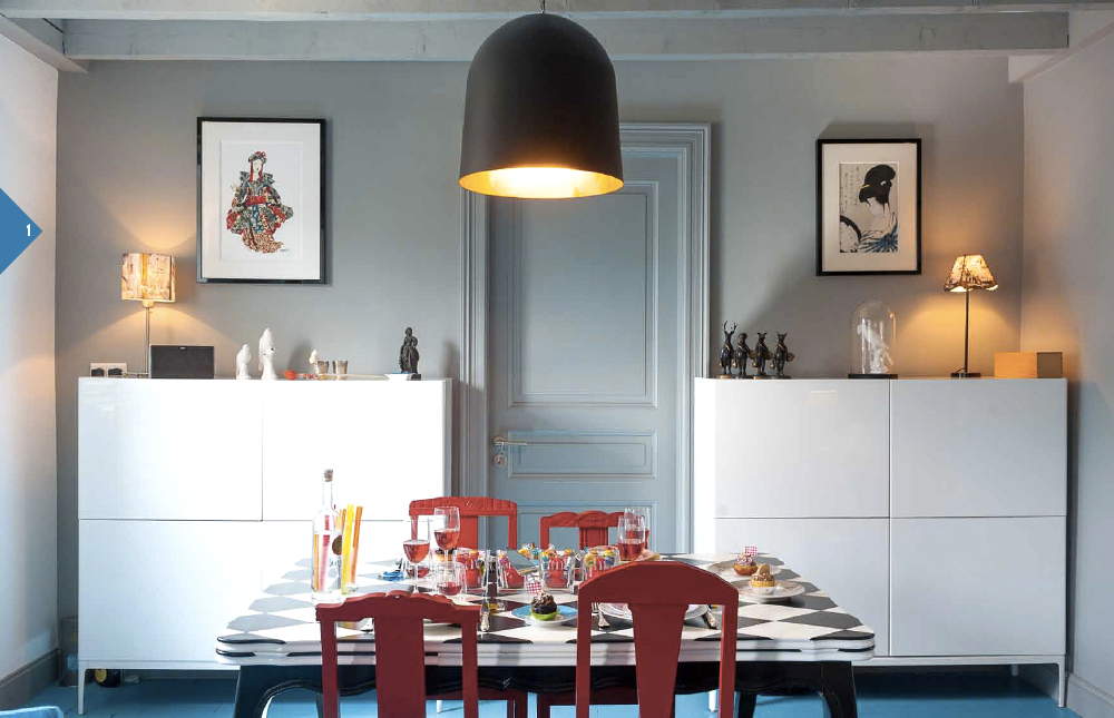 Appartement bleu Amandine et Pierre-Henry