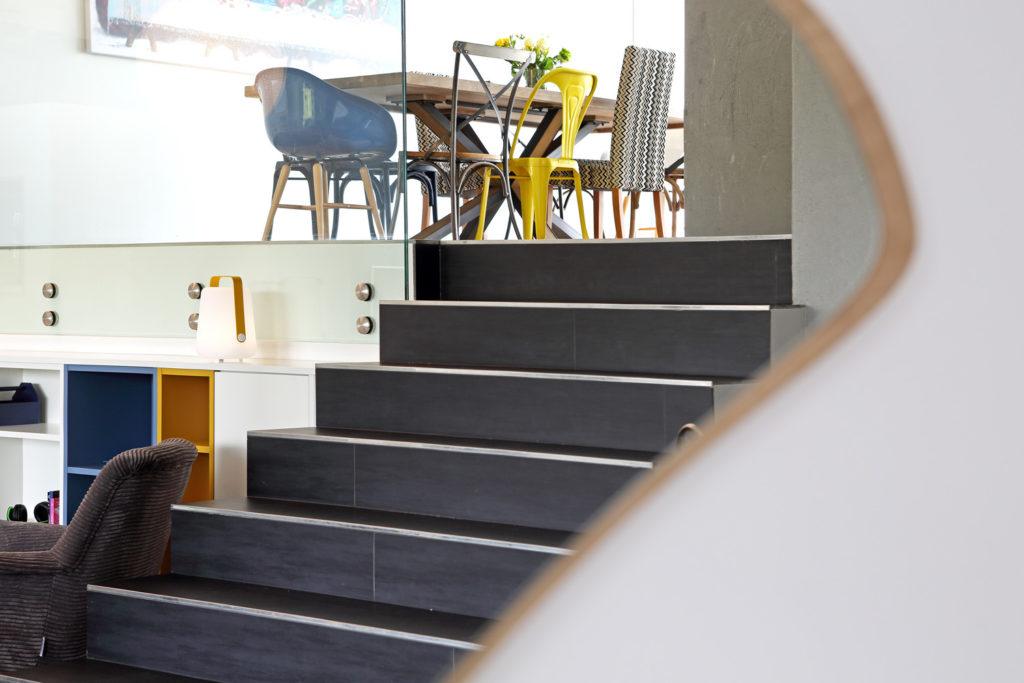 Atelier compostelle Villa Patchouli escalier