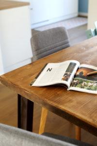Table bois rénovation