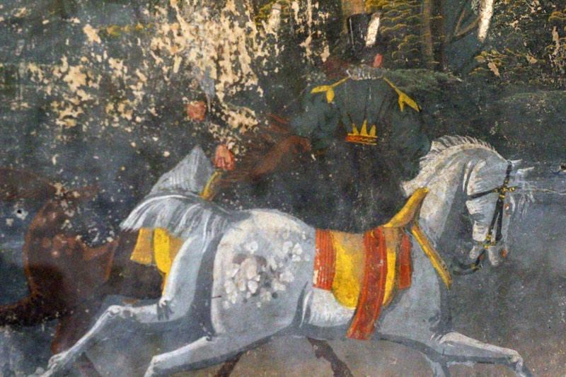 Peinture au palais de Vaucouleurs
