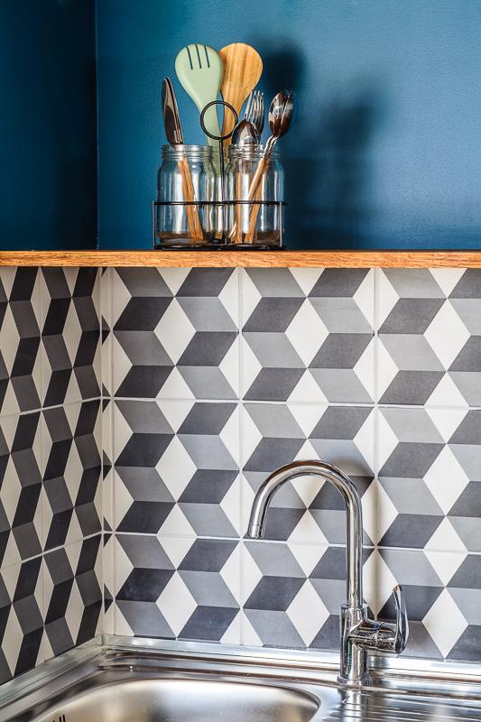 Cuisine Mosaique mur , studio Paris